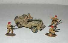 JEEP SAS LRDG  8° armée army + 5 Fig - Maquette 1/76 1/72 Model WWII WW2 Metal