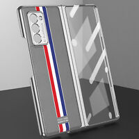 For Samsung Galaxy Z Fold 2 5G Case Luxury Plating Glass Phone Cover Protection