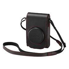 Maletines, bolsas y fundas rojos de piel para cámaras de vídeo y fotográficas