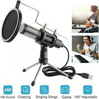Microphone Mic Kit Broadcasting Singing Studio Recording Condenser For Laptop PC
