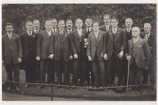 Burley Park Bowling Club after defeat by Yeadon, Leeds 1916 RP Postcard B750