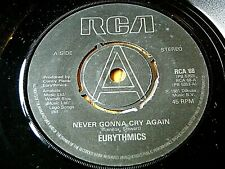 "EURYTHMICS - NEVER GONNA CRY AGAIN  7"" VINYL PROMO"
