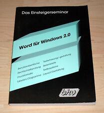 Buch - Word für Windows 2.0 - Das Einsteigerseminar - Stephan Voets