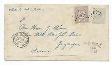 NETHERLANDS: Cover to Batavia 1890, Ned.Indie over Genua, arr.canc.
