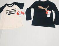 Puma Logo Girl Shirts Size 5 Set Of 2