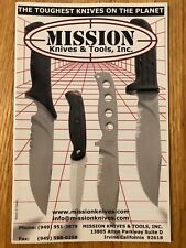 VINTAGE MISSION KNIVES CATALOG FEATURING THE MPK, MPT, MPF AND OTHERS
