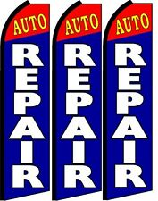 Auto Repair King Size Swooper Flag banner sign pk of 3