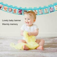 1st Baby Birthday Recording From 1Year Photo Banner Garlands Monthly Party Decor