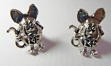 2 SILVER PLATED RAT FINK LICENSE PLATE BOLTS FREE SHIPPING IN USA