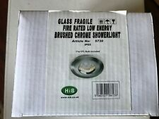 HiB IP65 Fire Rated  Brushed Chrome Showerlight + GU10 11w low energy bulb 6400k