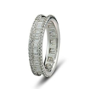 Brillant Diamant Ring total 1,55 carat 750-Weißgold Wert 6830 € Memoire Eternity
