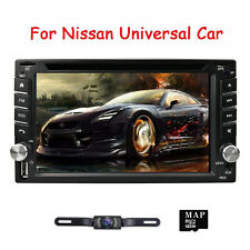 For NISSAN Sentra Versa Car CD DVD 2 DIN Stereo GPS System Radio + Backup Camera