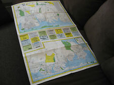 VINTAGE - NAUTICAL CHART - YELLOW BOOK MAP - LONG ISLAND NEW YORK - 1983-84