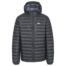 Trespass Mens Digby Full Zip Hooded Packaway Down Jacket Black Large