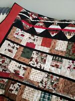 "Flannel Woodland hand made quilt 53"" x 73"""