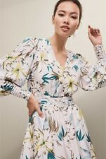 NEW Witchery Limited Edition Tory Trim Dress Floral Green Size 12 rrp $279.95