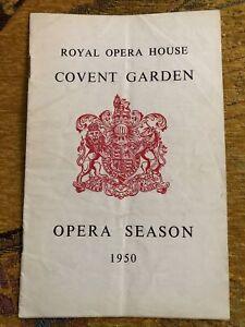 Puccini La Boheme 1950 Opera Programme - Elisabeth Schwarzkopf as Mimi