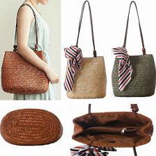 Summer Straw Handbag Totes Fashion Rushwork Beach Shoulder Bag Without Scarf