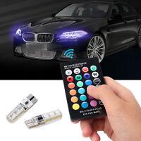 REMOTE CONTROL T10 5050 CAR LED BULB 6 SMD MULTICOLOR W5W 501 SIDE LIGHT BULBS G