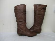 STEVE MADDEN Craave Brown Leather Slouch Knee High Boots Womens Size 9.5 M