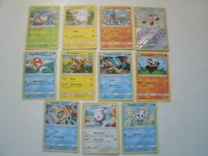 Pokemon Lot Set Of 11 Trading Cards 2017 Electabuzz,Pancham Lot # 2