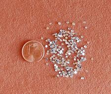 100 Strasssteine Crystal Silber rund 1,5 mm