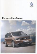 VW Touran CrossTouran Prospekt 8/10 2010 Autoprospekt Broschüre broschyr catalog
