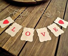 LOVE Wedding/Engagement banner - bunting flags/garland - decoration - sign