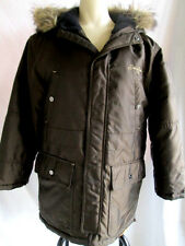 SEAN JOHN..DARK BROWN..INSULATED..NYLON..JACKET/ COAT..w HOOD..LADIE'S sz S