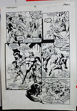 JACK KIRBY'S TEENAGENTS #1 PAGE 16 1993 ORIGINAL ART-NEIL VOKES & JOHN BEATTY Comic Art