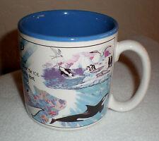 "Seaworld Coffee Mug ""The Orca & Ocean Life"" Illustration by J. Gotschalk"