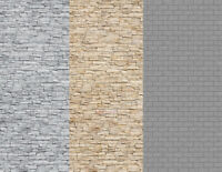 N Scale Stone Building Papers w/ White Gray and Gray Blocks 15 8.5x11 Sheets