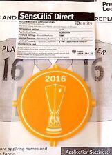 2016 Sevilla EUROPA LEAGUE CHAMPIONS Football SportingID SensCilia Badge Patch