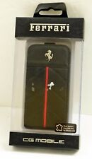 New CG Mobile FECFFL4B Ferrari Prancing Horse Black leather iPhone 4/4S Case