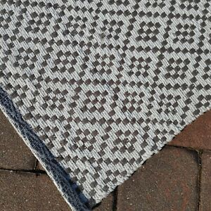 NEW 8 x 10 ft Nuloom Ethnic 100% Cotton Gray white Rug Crate and Barrel cottage