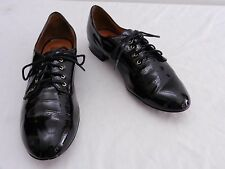 DV DOLCE VITA Womens 9 Black Patent Geek Chic Laced Oxfords Flats Shoes