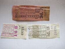 3x Vintage Sydney Tram / Omnibus Tickets, 1d 1/6d 2d - Sydney, NSW, Australia?
