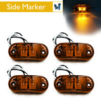 """4x Amber Clearance 2 Diode 2.5"""" LED Side Marker Lamp Light Truck Trailer Lorry"""