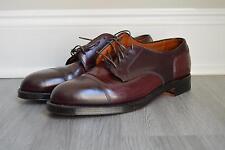 JCREW $690 Alden Shell Cordovan Straight Tip Bluchers 8 Shoes Burgundy SCRATCH