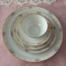VTG Noritake Marguerite Handpainted Nippon China~5 pc place setting+2 dinner pla