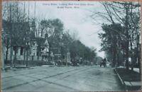 Grand Rapids, MI 1908 Postcard: Cherry St. from Union Street - Michigan Mich