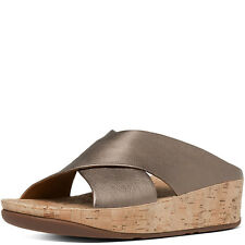 FitFlop 'Kys' Slide Sandal, Bronze Leather/Cork, Women Size 5, $130