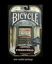 Bicycle Free Cell Illuminated Solitaire Touch Pad Electronic Handheld Card Game