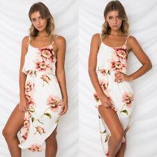 Women Maxi Boho Floral Summer Beach Long Dress Skirt Evening Cocktail Party Ball