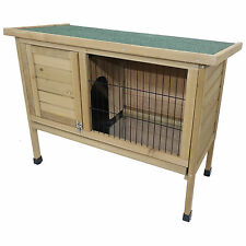 WOODEN RABBIT HUTCH GUNIEA PIG OUTDOOR GARDEN HOUSE HUTCHES RUN RUNS CAGE  PET