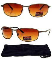 Limited HD Ultra Vision SunGlasses Black Metal Frame Driving Glasses Mens New