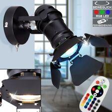 RETRO RGB LED Wand Leuchte Ess Zimmer Strahler Scheinwerfer Spot schwarz DIMMER