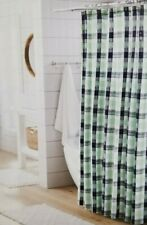 "Threshold Buffalo Check  Fabric Shower Curtain 72"" x 72"" NIP"