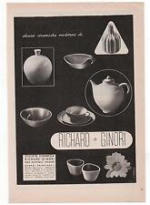 Pubblicità epoca 1937 RICHARD-GINORI CERAMICHE advert werbung publicitè reklame