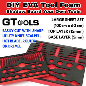 1Mx0.6M EVA Foam Sheets 20mm DIY for your tool layout - Eva Foam-20mm